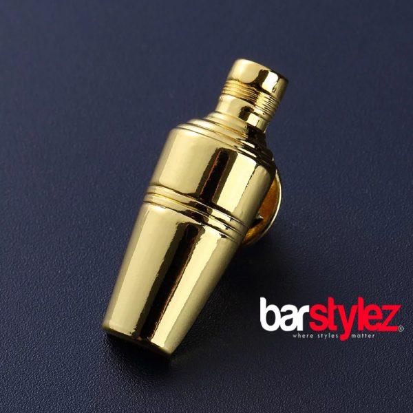 3 Piece Shaker Collar Pin Gold