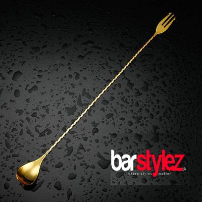 Trident Barspoon 40cm - Gold