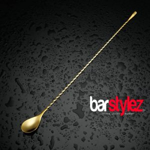 Teardrop Barspoon 40cm - Gold