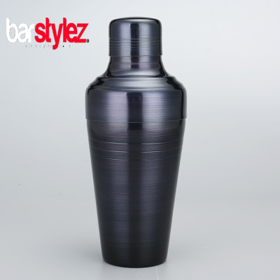 3 Piece Baron Shaker 410ml - Gunmetal Black